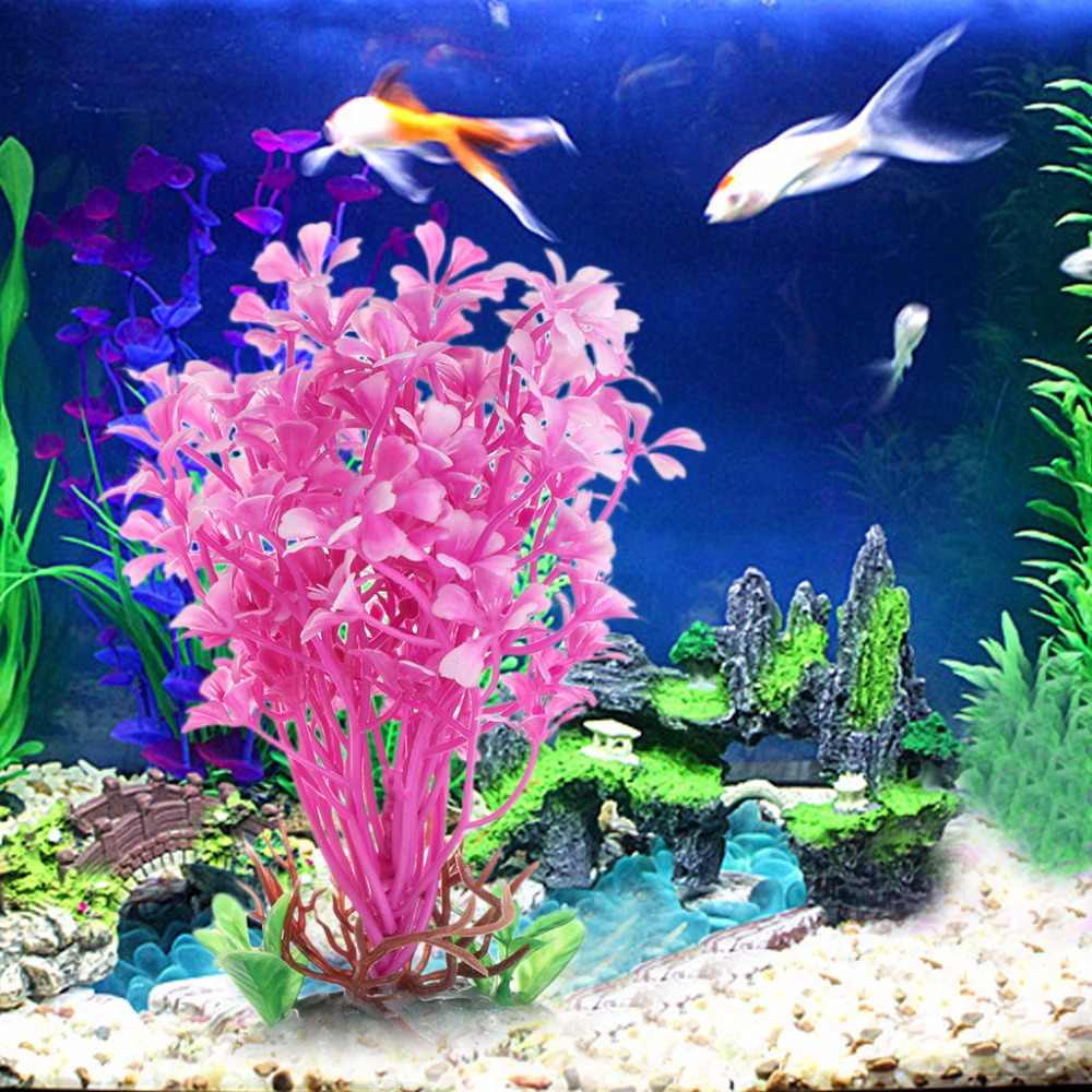 Aquatic Plants Pink Sea Flower Artificial Fish Tank Aquarium Foreground Decorate