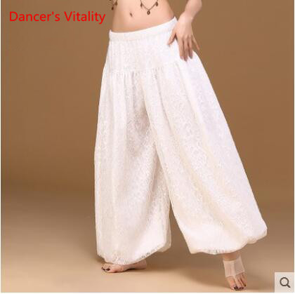 Image 5 - sexy loose unisex bloomers dance pant tribal dance harem pants two layers of white lace for men and women, free shippingbelly dance skirtbellydance skirtsexy belly dance -