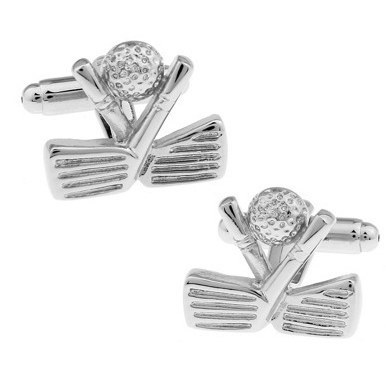 C-MAN Luxury shirt Silver Golf cufflink for mens Brand cuff buttons cuff links High Quality abotoaduras Jewelry