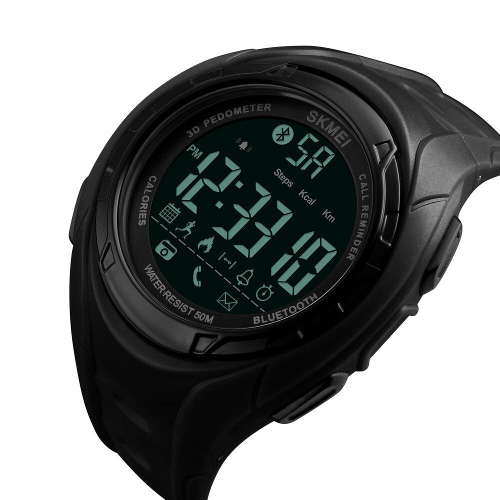 Новые модные умные Мужские часы с шагомером и Bluetooth reloj hombre водонепроницаемые мужские цифровые наручные часы с ЖК дисплеем электронные часы