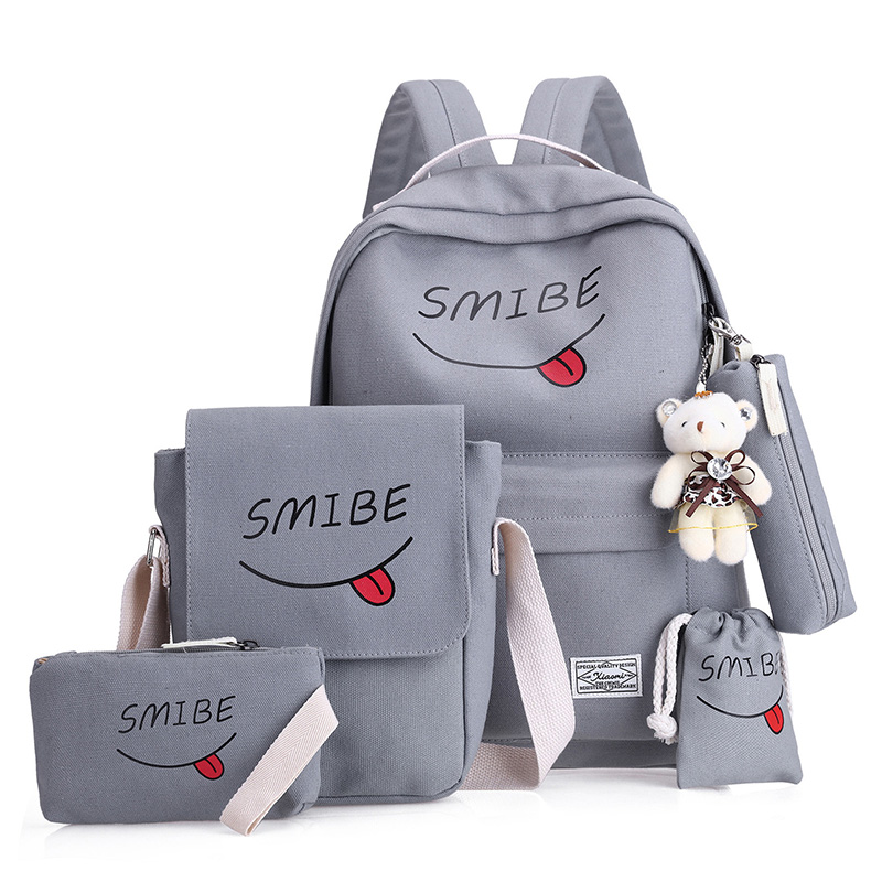 5 pcs/set school bags for teenager girls children schoolbag large capacity school backpack kids bag satchel travel bag mochila(China)