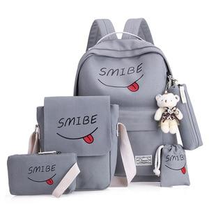 5 pcs/set school bags for teen