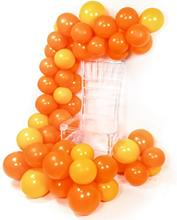 METABLE 100 Pcs 12/10 Inch Yellow Balloons Deep Orange Birthday for Yellow, Party Decorations
