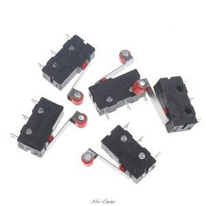 10Pcs/Set Mini 3-Pin Tact Switch KW11-3Z 5A 250V Round Handle Clock Microswitch