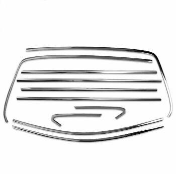 WindowsTrim Fit Pour Volkswagen Golf 7 Autocollants De Décoration Porte En Acier Inoxydable Extérieur Accessoires Fit Pour VW Golf VII MK7 2014
