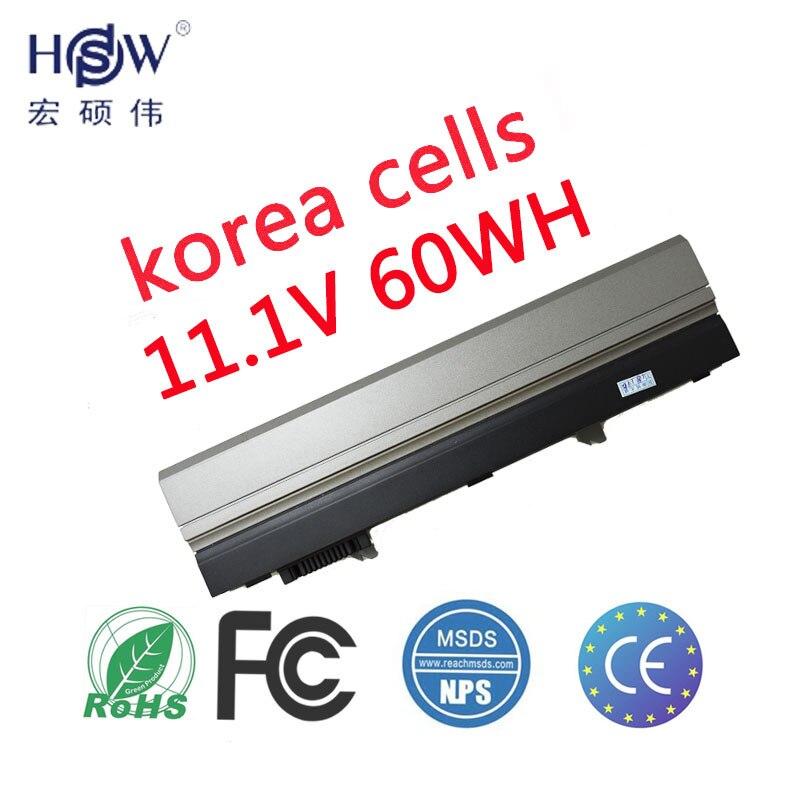 HSW 60wh batterie d'ordinateur portable pour Dell Latitude E4300 E4320 E4400 PP13S PYCT7 R3026 T5V0C VN5H2 W8H5Y WJ386 X855G XX327 XX330 XX334