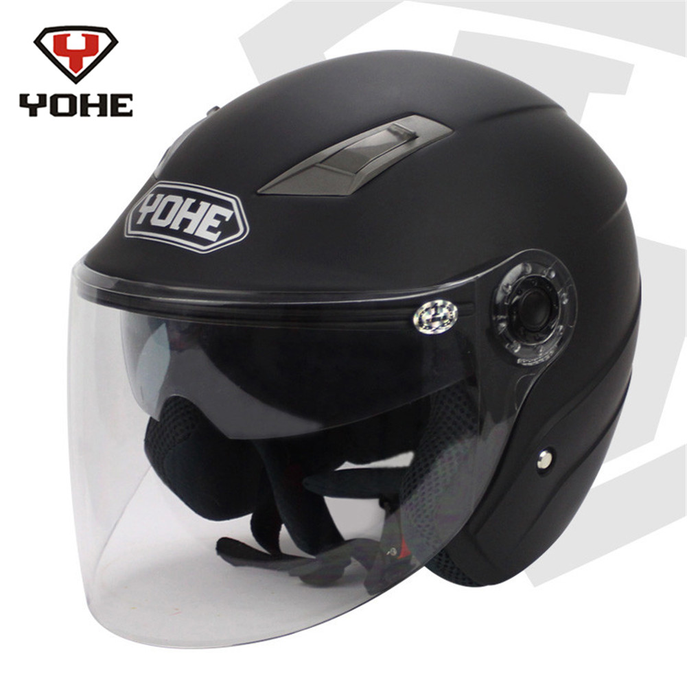 YOHE Dual Visors Motorcycle Open Face Helmet Scooter Casque Casco Moto Motorcycle-Helmet Motor Helmets for Motorcycle S M L XXL no2 free shipping bluetooth helmet for phone motorcycle helmet roadcross double visors racing helmets with sunny lens s m l xll