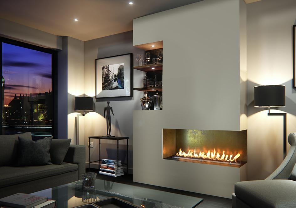 On Sale Ethanol Wall Decorative Fireplace Inserts Chimenea Etanol Indoor Electric Bio Lareira Interior