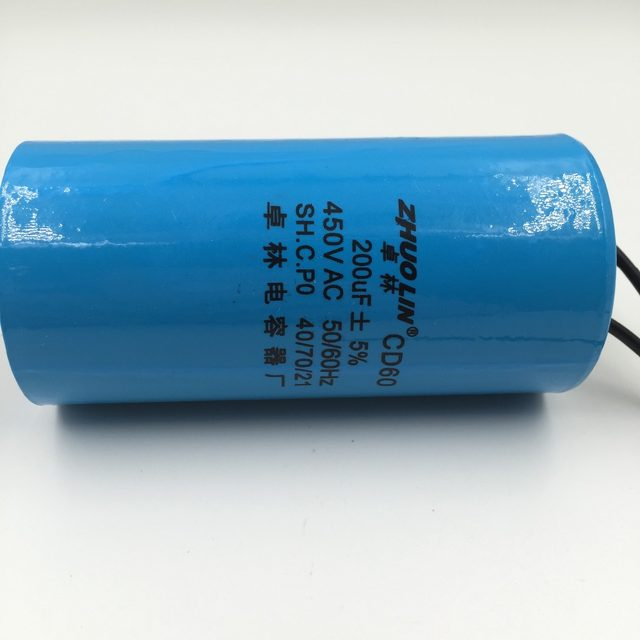 Online Shop CD60 200uF 5% AC 450V Two Red Wire Terminal Motor Run ...