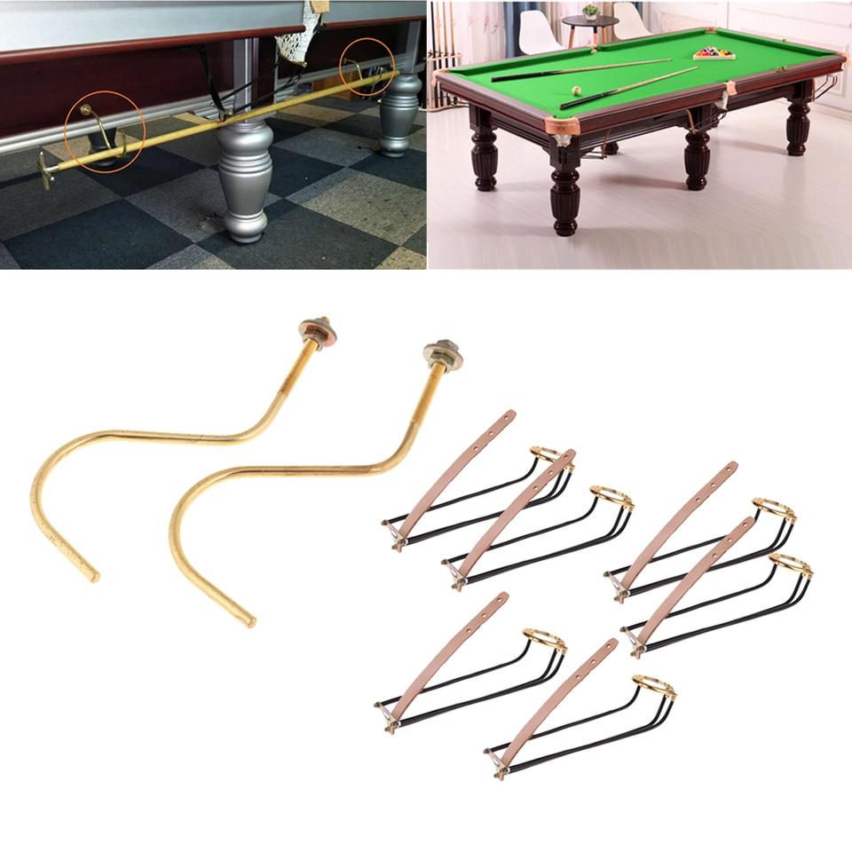 6 pcs Billiards Table Pocket Rail Billiard Table Slide Track with Net Bags Snooker Billiard Table Accessories