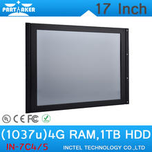 Cheapest 17 inch tablet pc all in one pc linux windows with Intel Celeron 1037u 1.8Ghz 4G RAM 1TB HDD