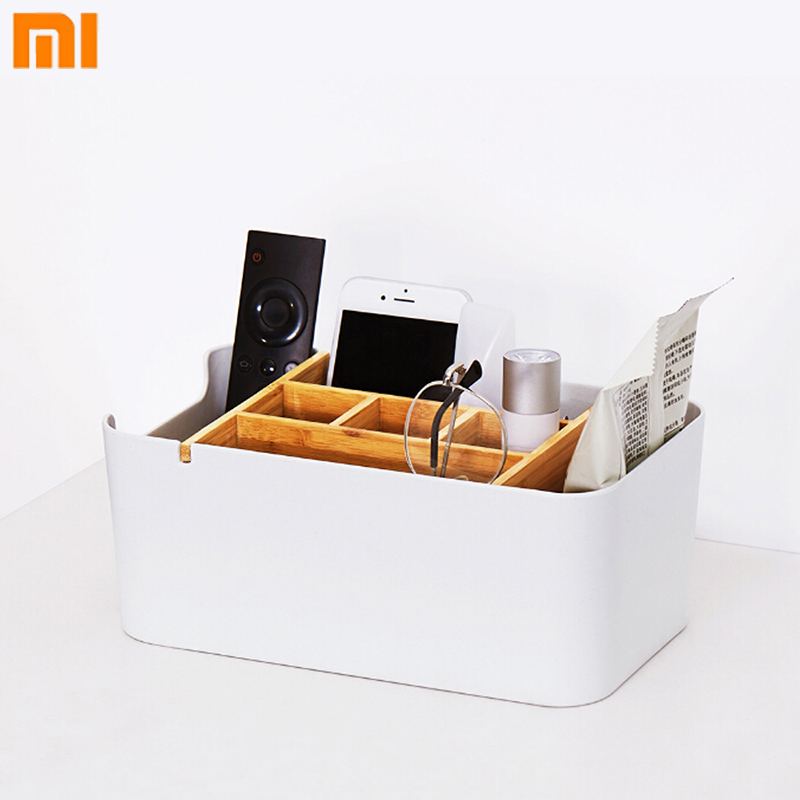 Us 24 99 Original Xiaomi Chengshe Large Capacity Bamboo Fiber Desktop Storage Box Living Room Bedroom Cosmetics Finishing In Smart