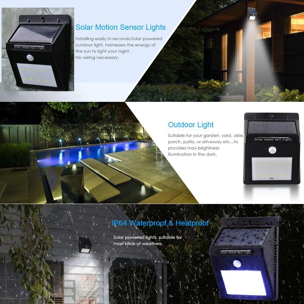 Lâmpadas Solares da noite Use For : Garden Wall Yard Deck Bright Security Night Lights