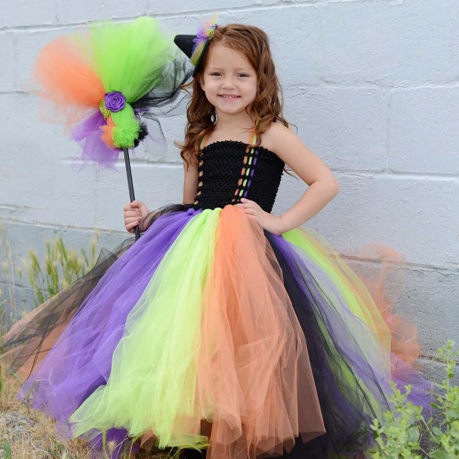 Meisjes Halloween heks kostuum handgemaakte kinderen Tutu jurk voor - Kinderkleding