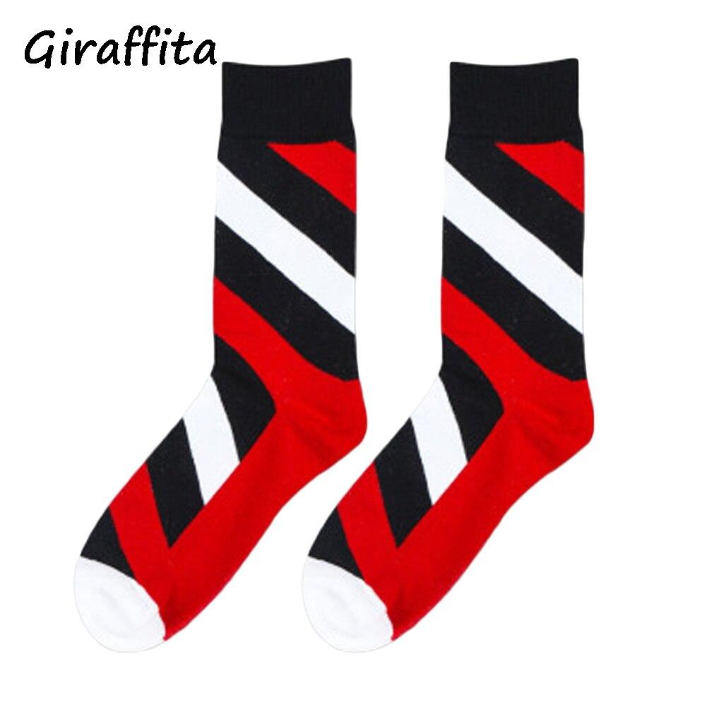Giraffita British Style Fashion Brand New Leisure Men Socks Colorful Dress Socks Wedding Sock Business Sock