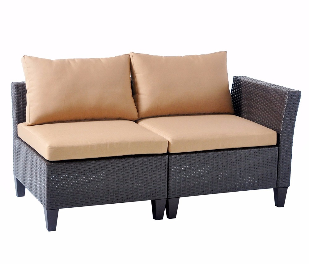 HLC Luxury Rattan Corner Sofa Garden Or Conservatory Furniture Corner Sofa  Set Patio Furniture