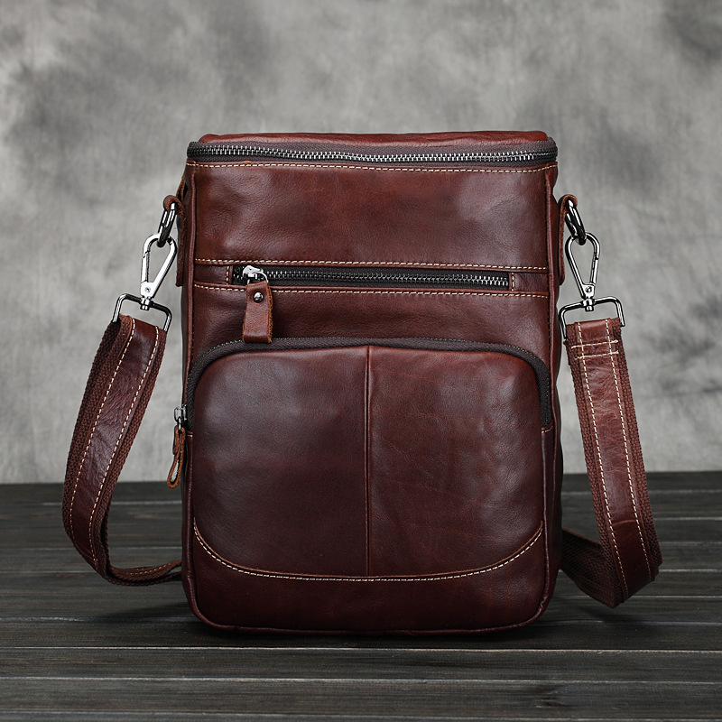 Business genuine leather men messenger bags shoulder briefcase travel male crossbody bag - East Asia Leather store