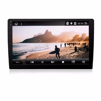 KLYDE 10.1 1 Din Android 8.1 8 Core universal Big Screen NO DVD Car Radio Audio 1024*600 Car Stereo Multimedia Player