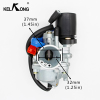KELKONG 19mm Carburetor Moped Carb for 2 Stroke Piaggio Zip For Yamaha Jog 50 50cc Scooter 50cc 70cc 90cc Mini Carb ATV 1E40QMB