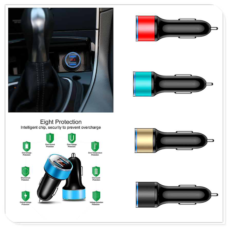 Car <font><b>LED</b></font> USB Charger Digital Lighter Power Adapter for <font><b>Renault</b></font> Sand-up Ondelios Thalia Nepta Altica Z17 Vel <font><b>Modus</b></font> Egeus 20 image