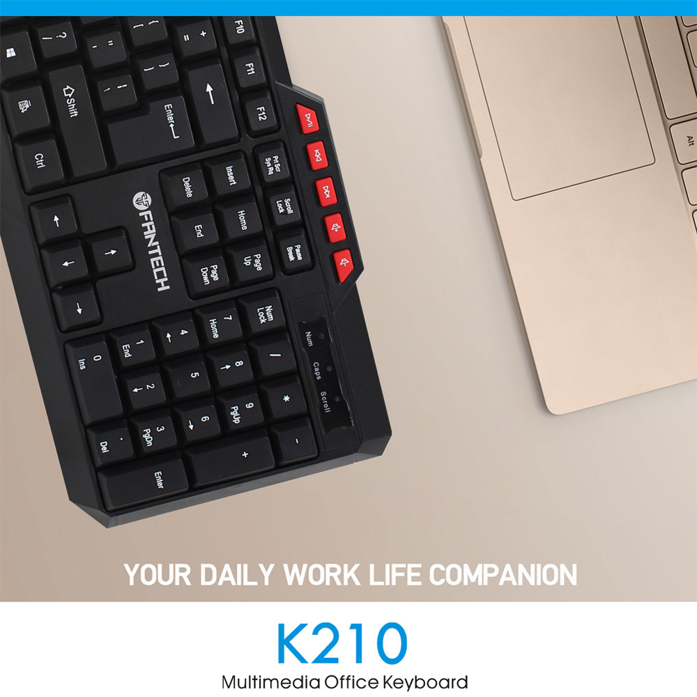 FANTECH K210 Multimedia Office Keyboad 14
