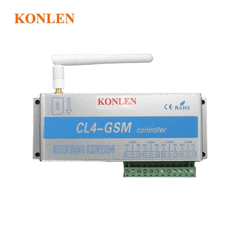 bilder für 4 Relais der GSM-Controller-SMS Fernbedienung Schalter AUF OFF Garagentor Toröffner Licht Vorhang Motor Pumpe Home Automation