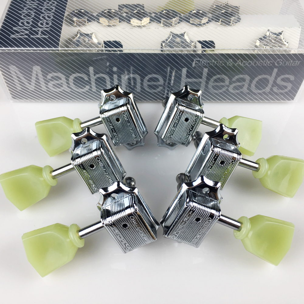 Купить с кэшбэком 1Set Genuine Wilkinson 3R-3L Vintage Deluxe Electric Guitar Machine Heads Tuners WJ-44 Tuning Pegs ( With packaging )