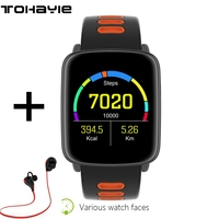 ToHayie GV68 Smart Watch MTK2502D IP68 Waterproof Smartwatch Pedometer Reminder Remote Sports Wristwatch For IOS