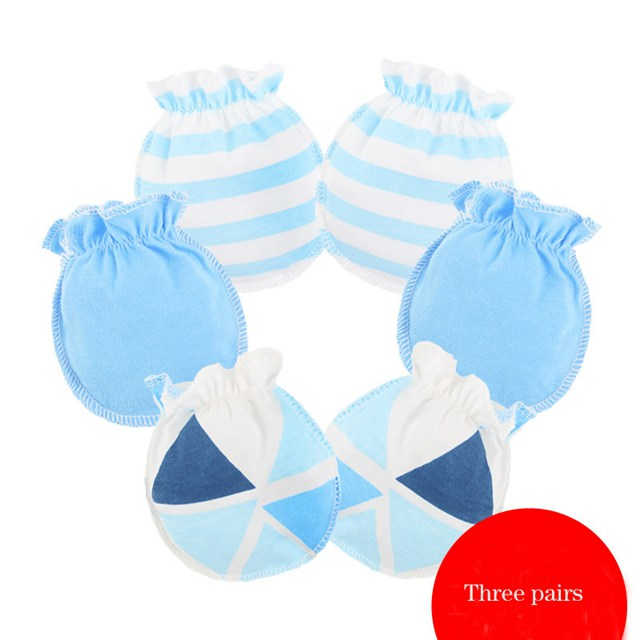 Baby Anti Scratch Mittens Blue