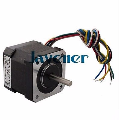 ФОТО HSTM42 Stepping Motor DC Two-Phase Angle 1.8/1.2A/7.2V/6 Wires/Double Shaft