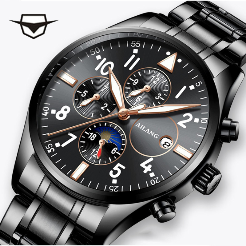 AILANG top brand luxury swiss pilot wrist watch men's mechanical case band gear reloj diesel watch men diver clock rolex_watch top brand diesel watch swiss gear auto men s wrist watch swiss military diver reloj leather belt automatic winding bracelet