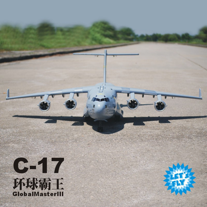 RC Plane C17 AirBUS Military plane C17 Aieliner 2.4G 7 CH Remote Control Simulation transport aircraft Electronic Model Toys model aircraft