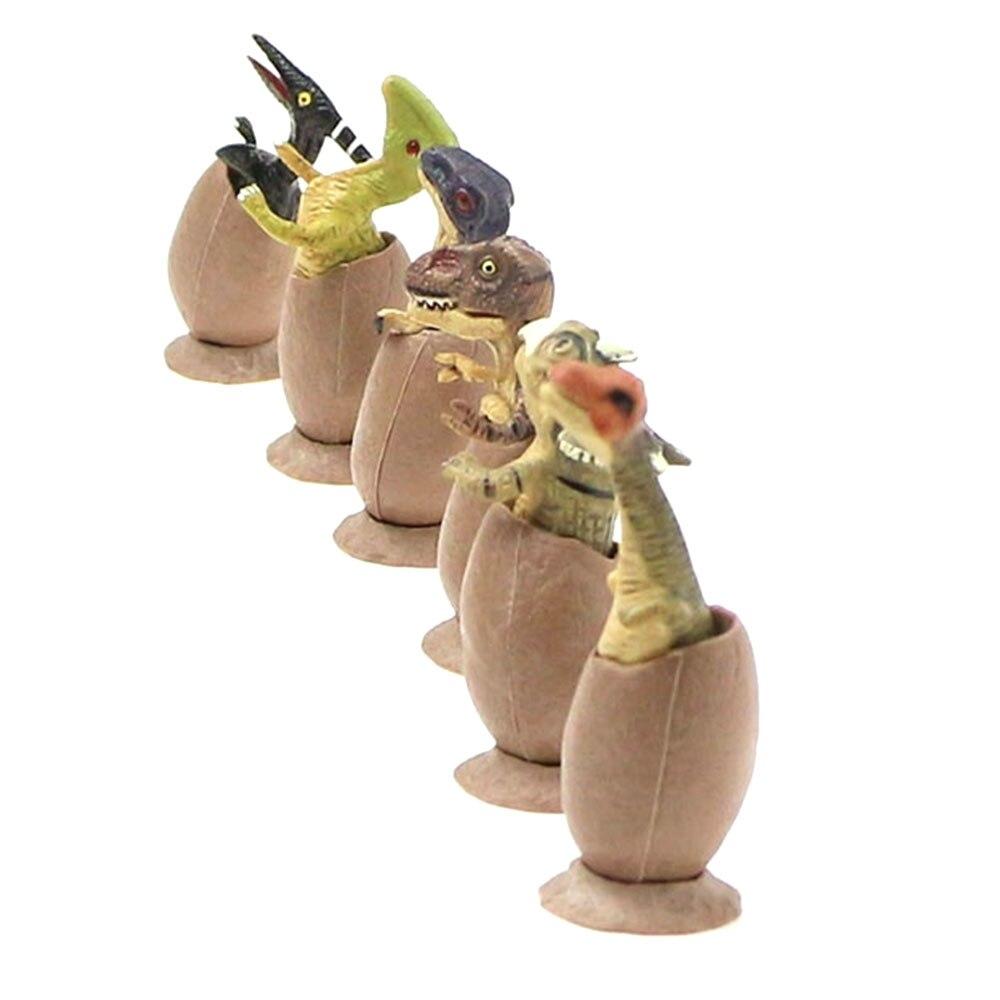 Пластик 6 шт./компл. орнамент с динозавром Яйца динозавра Творческий вечерние карман Decroration модель образования с милым динозавром модели яиц