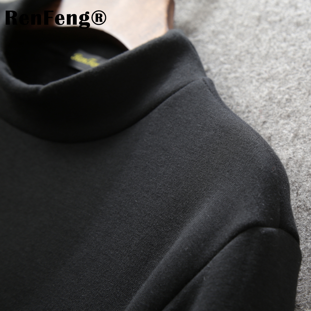 Men's Tops Tees 2018 summer new cotton high neck Long sleeve t shirt men fashion trends fitness tshirt Under shirt free shipping (8)