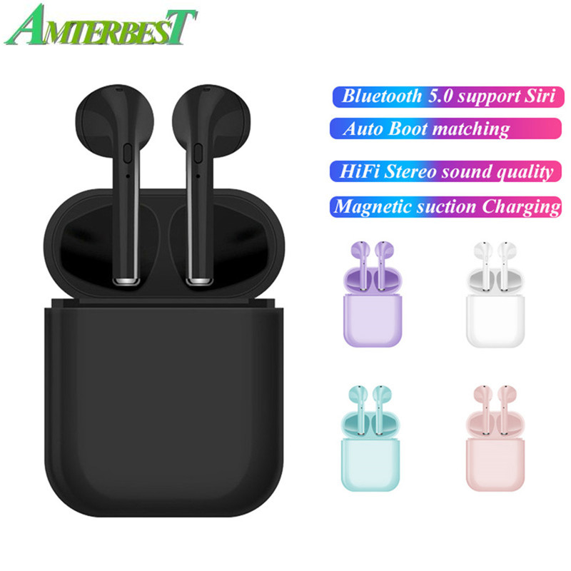 AMTERBEST I16 TWS Wireless Earphones Bluetooth 5.0 Headsets Headphone with Microphone Stereo Earbuds for Smartphones Pk I12 i30 image
