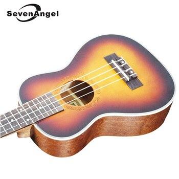 SevenAngel 26 inch Tenor Ukulele Rosewood Fingerboard 4 Aquila Strings Guitar Electric ukelele Sunset Color with Pickup EQ