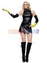 (SUP942) Batgirl Metallic Mujer dama Sexy Superhero Costum Cosplay Zentai Traje de Fiesta de Halloween