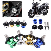 1Pair 10mm CNC Aluminum Swingarm Spools Slider Universal Rear Motorcycle Stands Screws For Kawasaki Ninja 250 ER6 Z 250 ER6F NEW