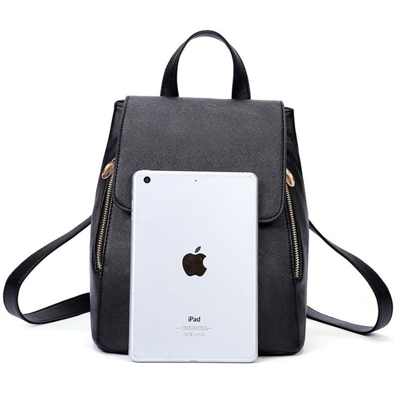 Ainvoev Bookbag Women Backpack Fashion Girls Leather Backpack Candy Color Teenage School bag Mochila High Quality Satchel
