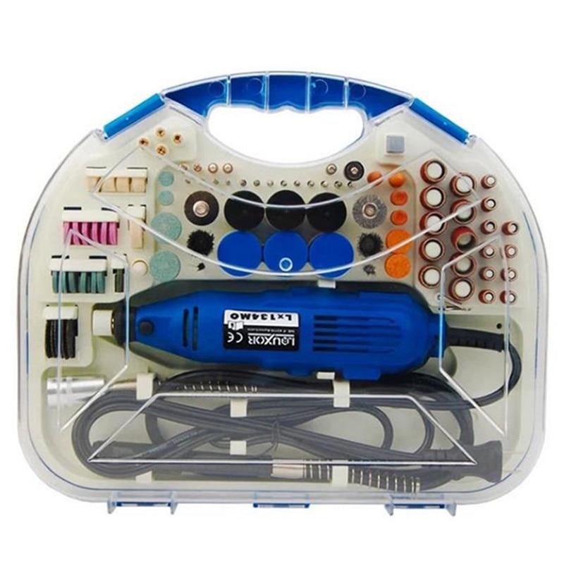ФОТО 211pcs Electric Rotary Grinder Sander Polisher Carving Pen Machine Set Grinding Tool Dremel Tools Accessories Set
