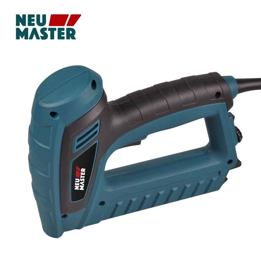 NEU MASTER PLD6033 Quality Electric Stapler Tacker Brad Nail Gun 220-240V 5A Type 53 L=8-16mm Type F, L=15-16mm