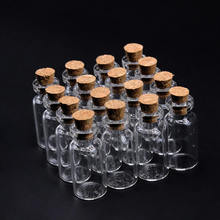 50 шт. прозрачные мини пустые стеклянные бутылки с пробкой желая сообщение флаконы банки контейнер подарок украшение дома аксессуары