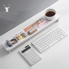 Home Office Desk Organizer Desktop Storage Holder Multifunction Keyboard Cover Accessories Sundries Shelf Pen