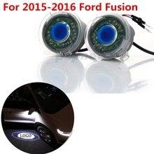2 Сторона Автомобиля Зеркало Заднего вида Лужа Свет Лазера проектор Призрак Тень Свет Логотип Лампа Для 2015-2016 Ford Fusion #6012