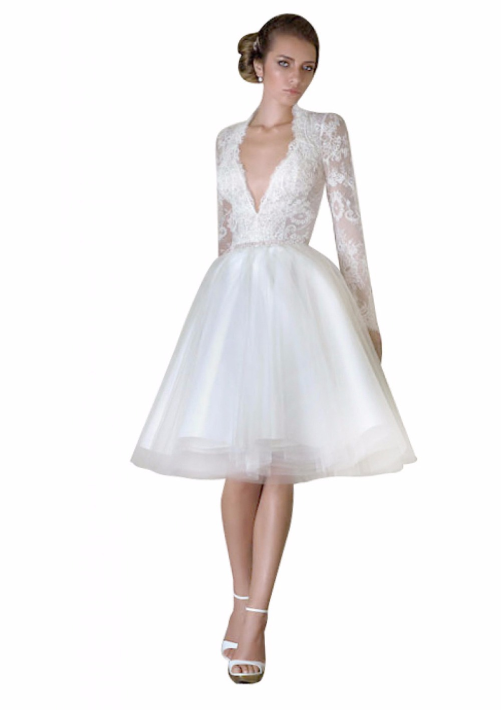 Vintage Lace Cap Sleeves Short Lace Wedding Dress Expensive 2016 Sereia  Vestido De Noiva-in Wedding Dresses from Weddings   Events on  Aliexpress.com ... f67d1f260408
