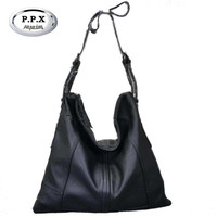 P P X Fold Women Bag Brand High Capacity Handbag Europe And America Cow Leather Shoulder