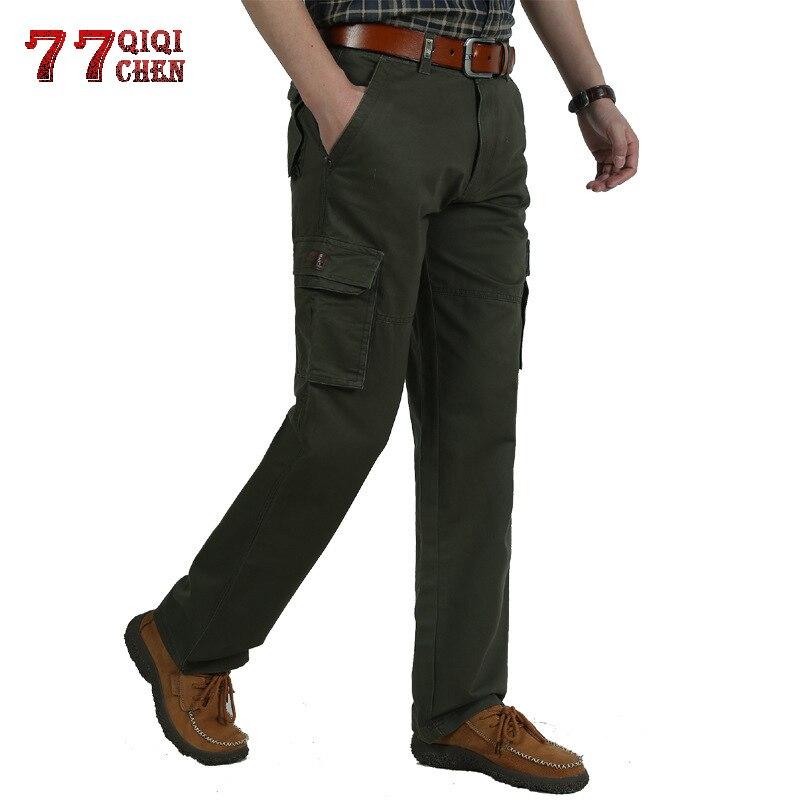 Qiqichen Marke Herbst Winter Cargo Hosen Männer Hohe Qualität Warme Lange Militärische Hosen Plus Größe Pantalon Hombre Taktische Hose Elegant Und Anmutig Mutter & Kinder