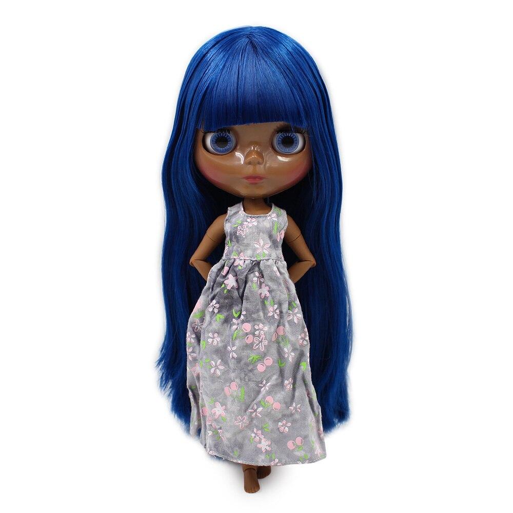Blyth doll JOINT Azone body SUPER BLACK Darkest skin tone royalblues traight hair 1 6 No