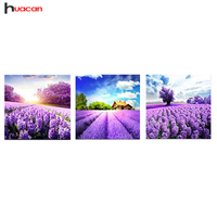 New Arrival Lavender Needlework Diy Diamond Painting Full Square Embroidery Of Rhinestones 6 Colors For Living
