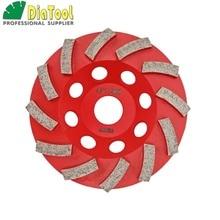 цена на Diameter 4/100mm Diamond Grinding Cup wheel for Concrete, Grinding disc, Segmented turbo type